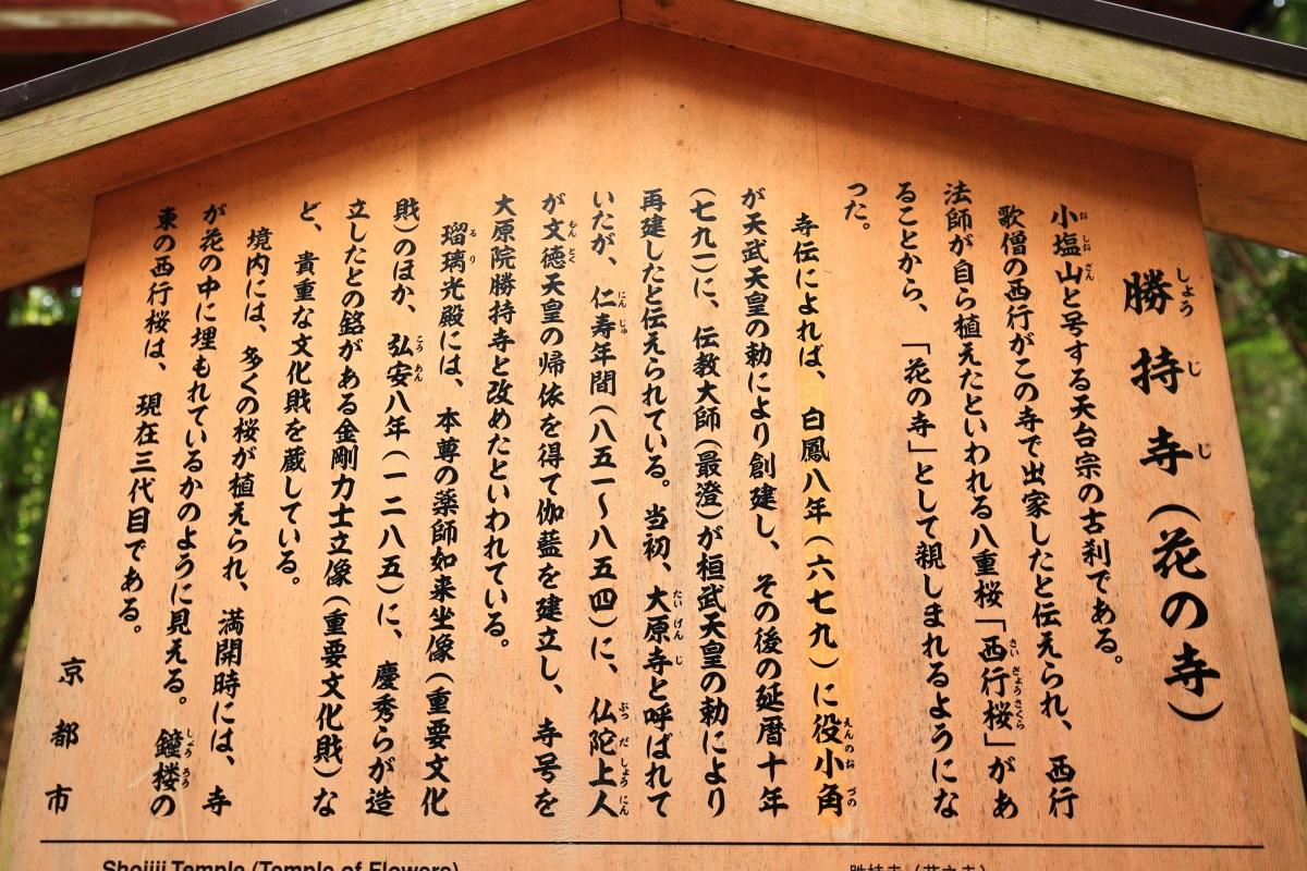勝持寺(しょうじじ)の説明