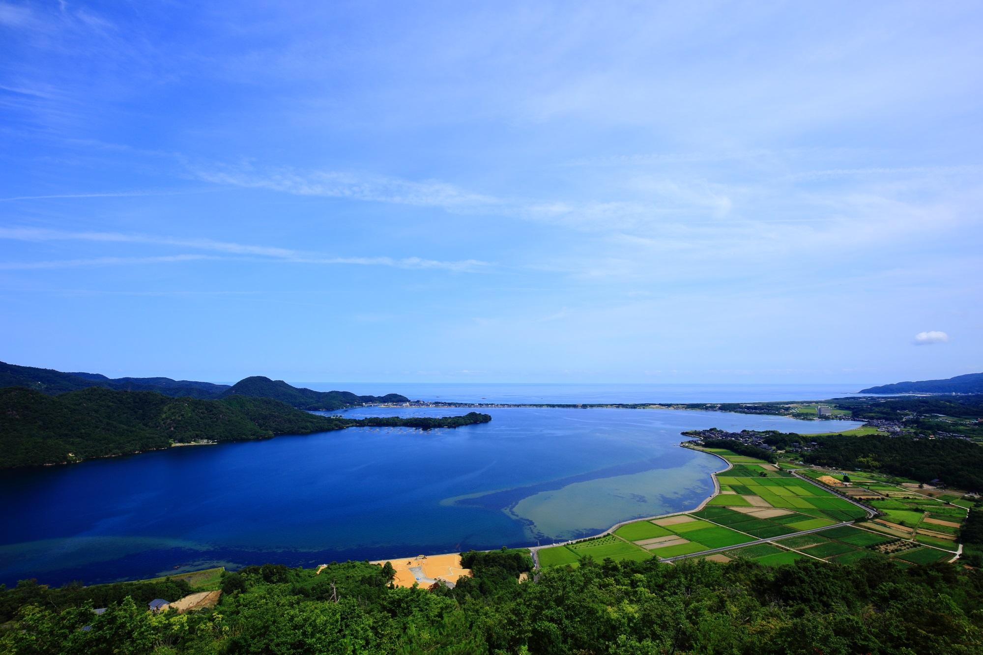 久美浜湾 京丹後の絶景 兜山から眺める海の京都
