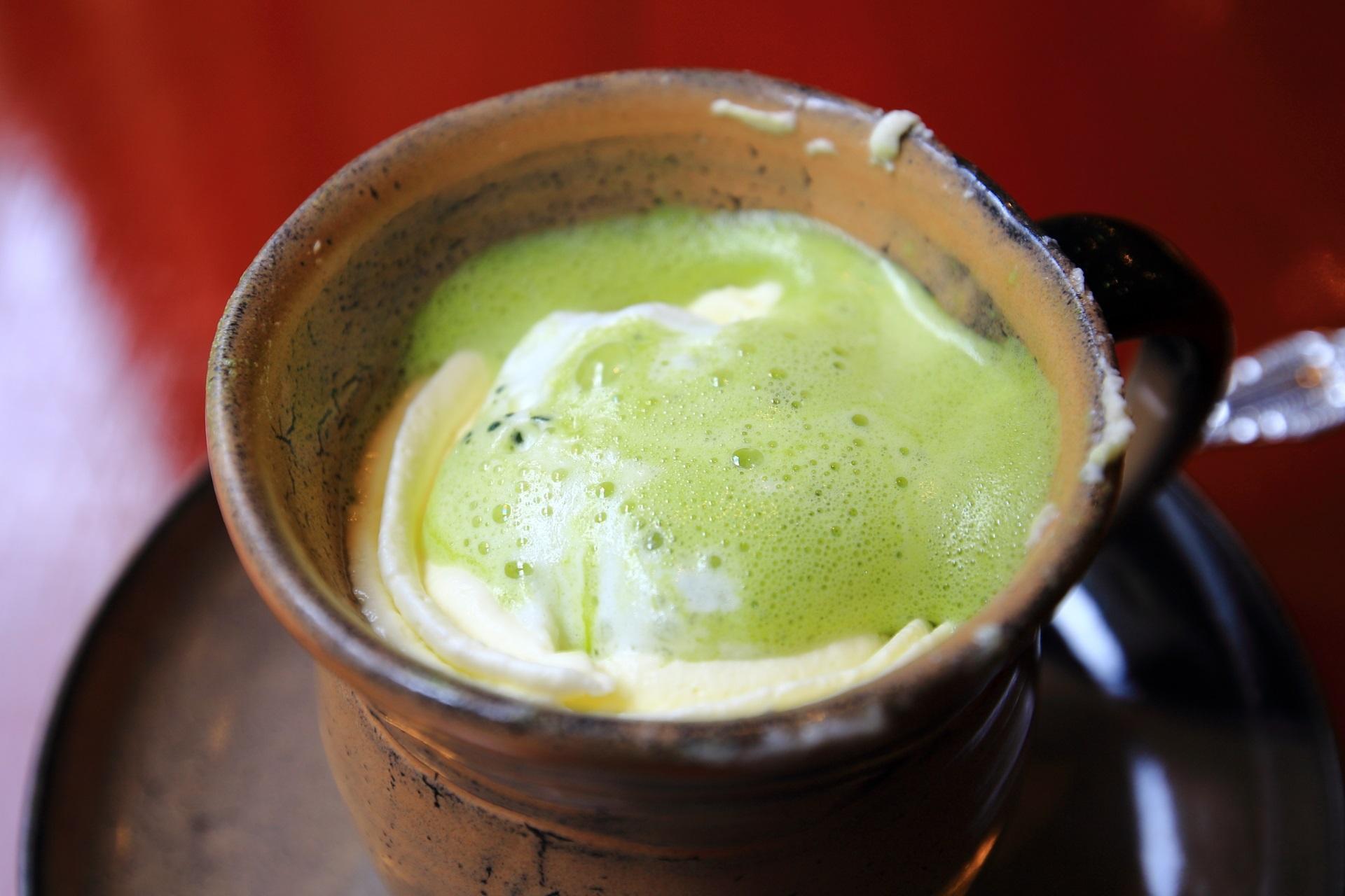 パパジョンズの抹茶ホワイトチョコレートの抹茶