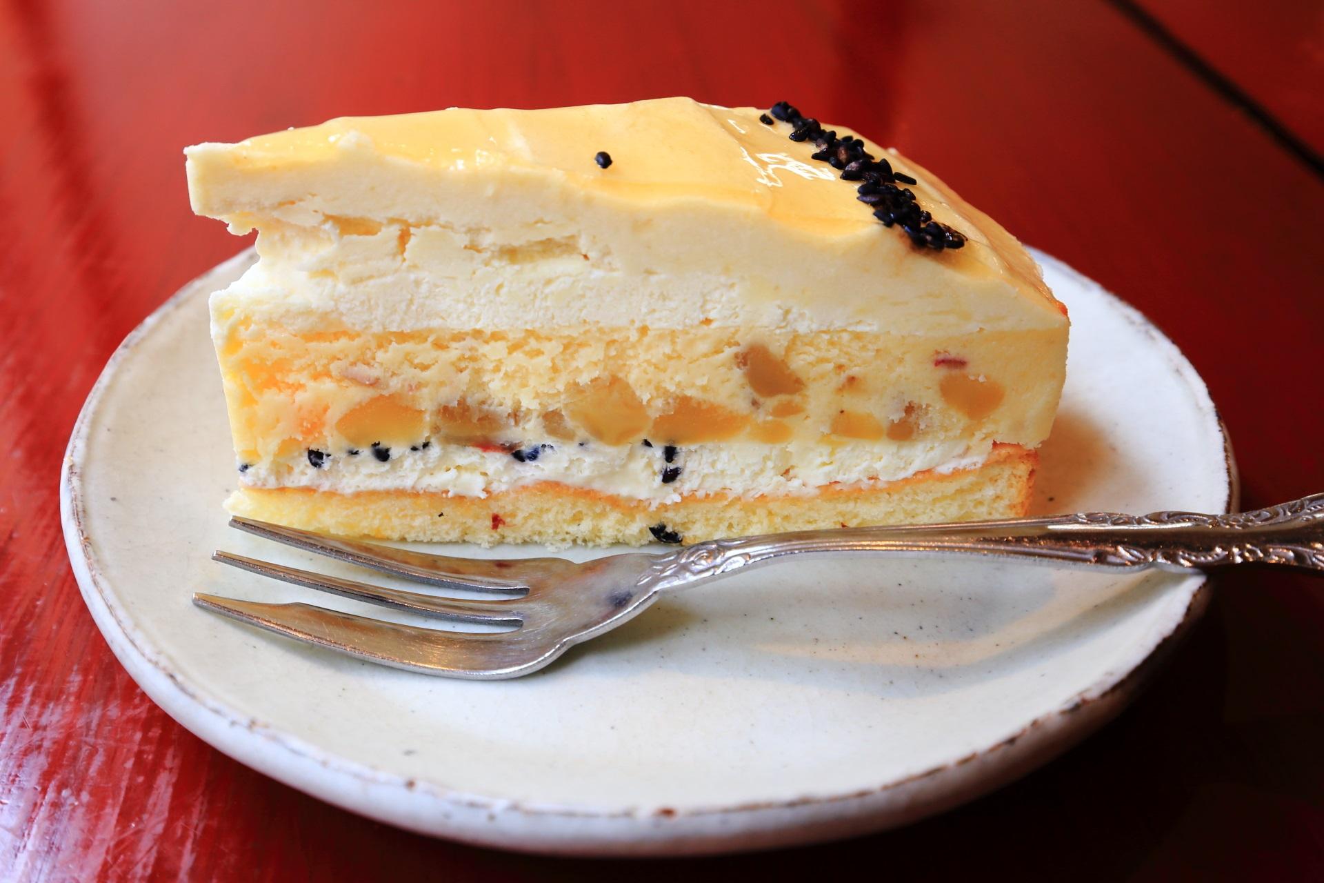 チーズケーキ専門店のパパジョンズ六角店のスイートポテトチーズケーキ