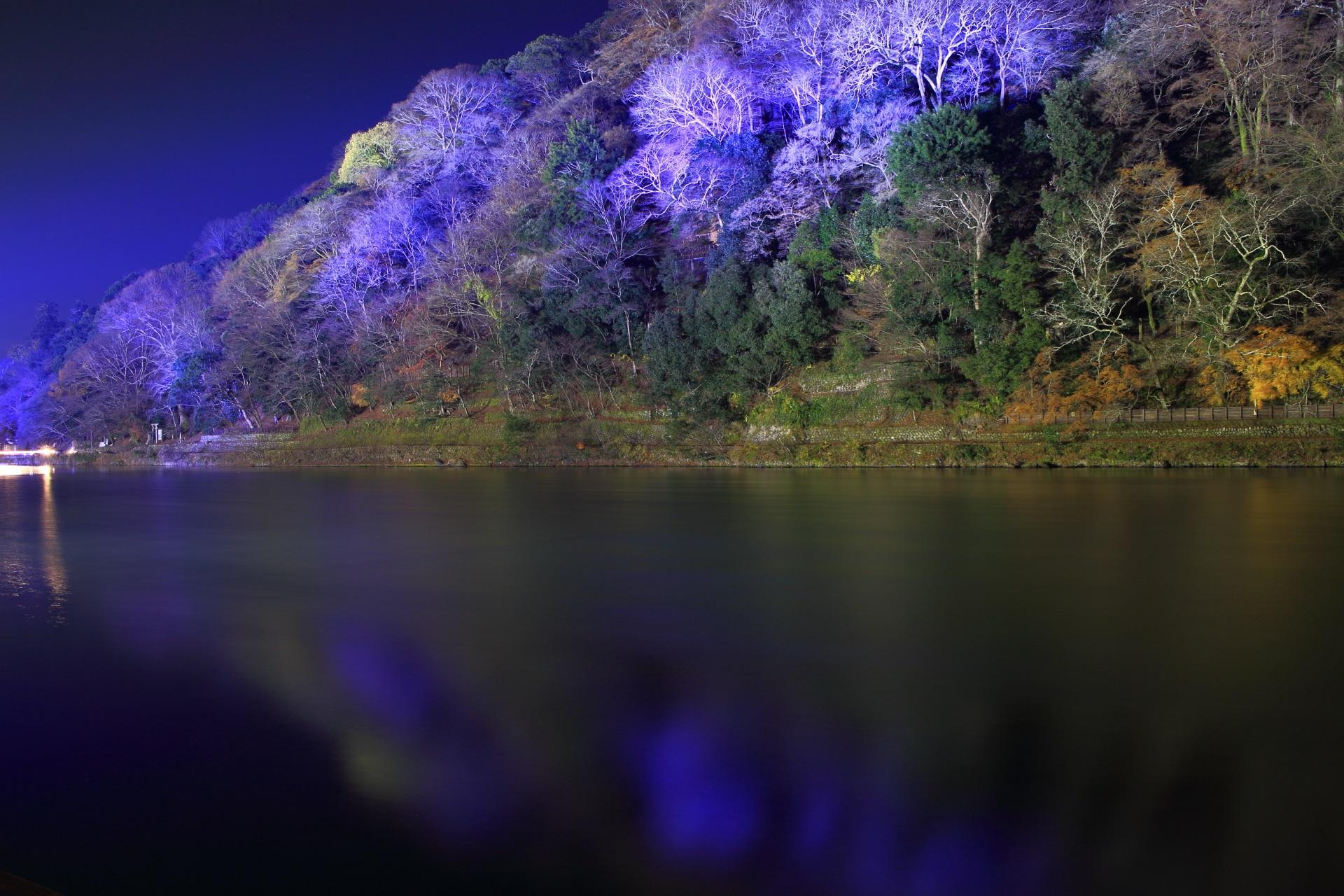 嵐山花灯路 保津川 嵐山 ライトアップ 綺麗