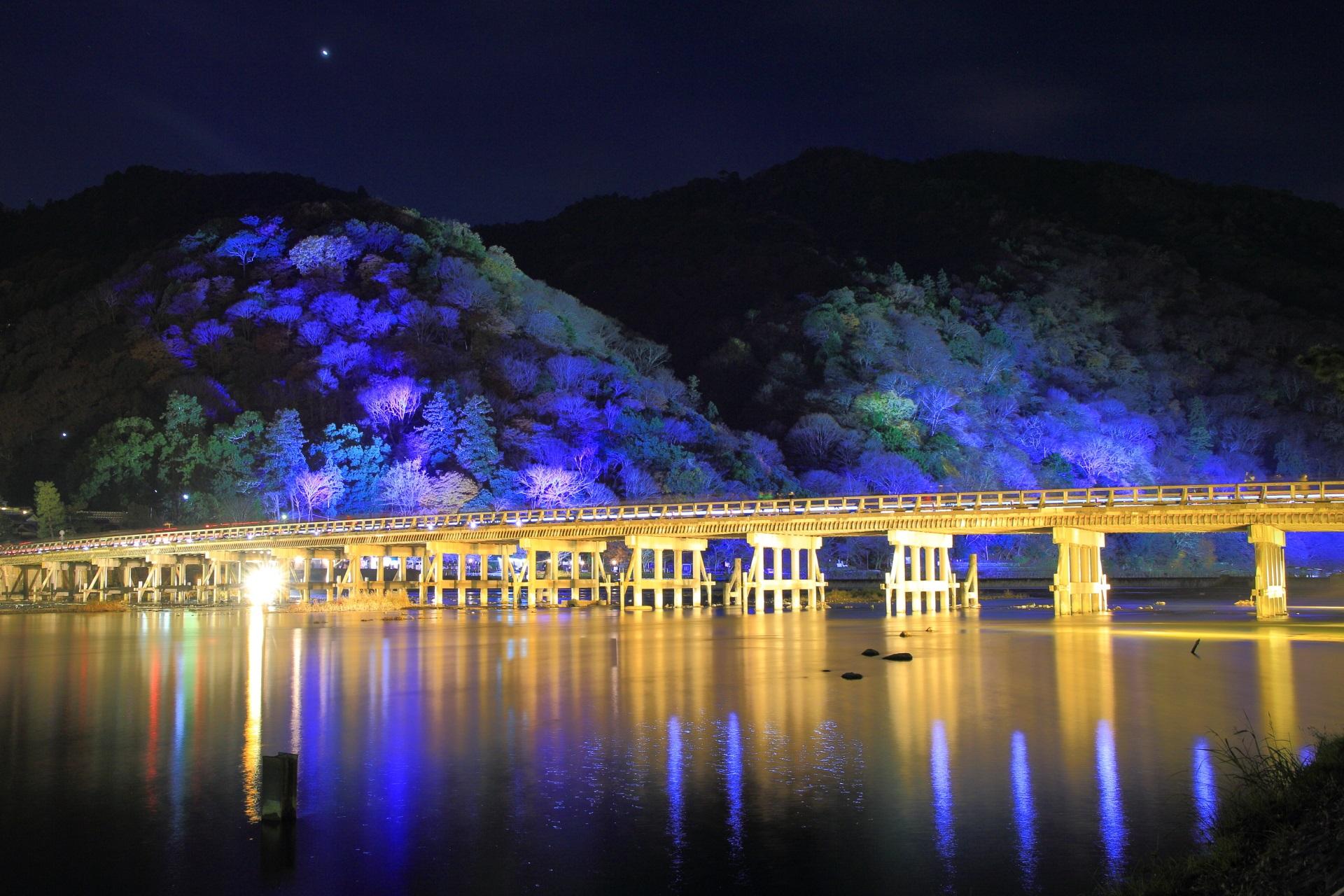 Togetsu-kyo Bridge lightup Arashiyama-Hanatouro Kyoto