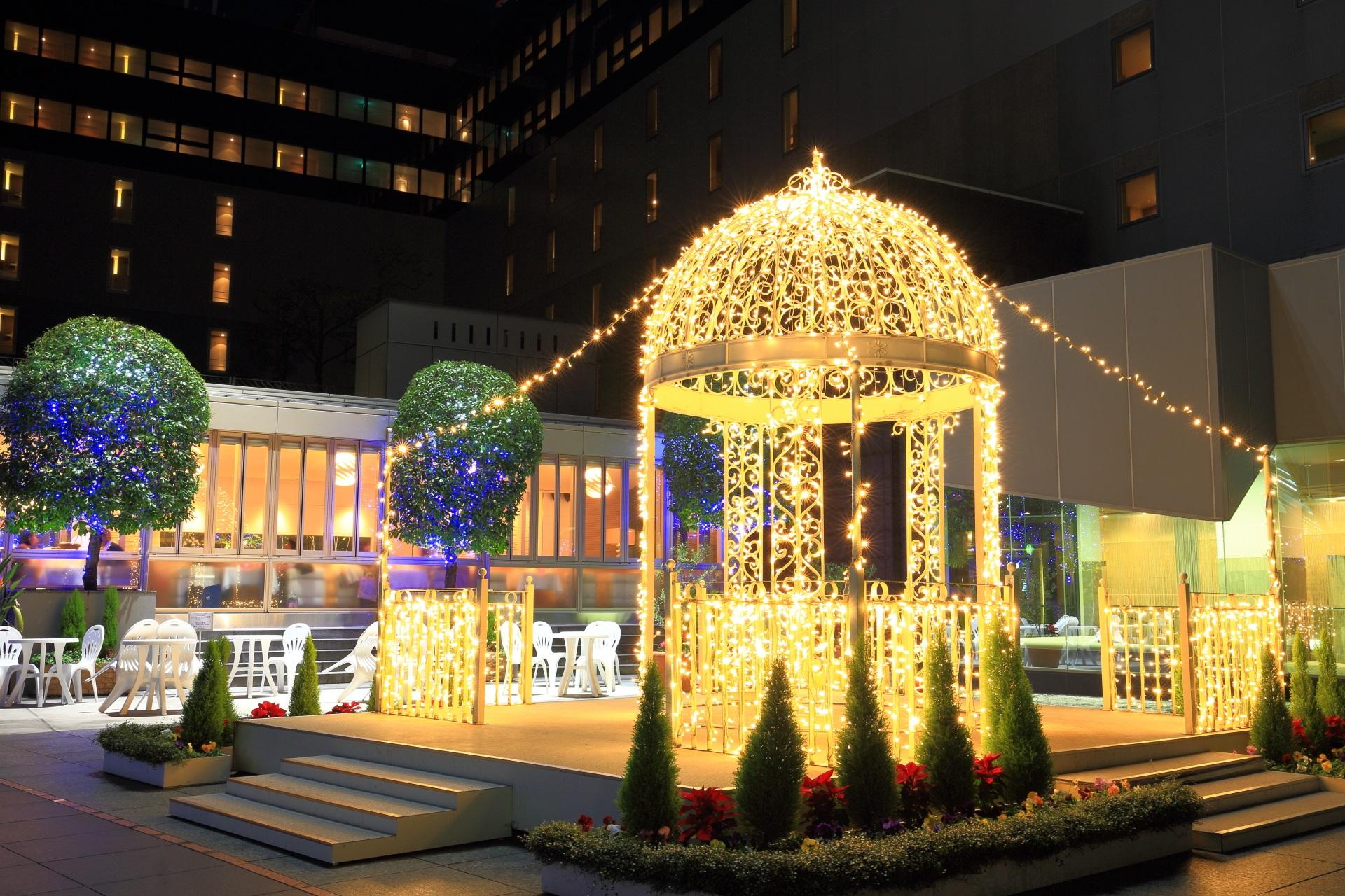 東広場の綺麗なイルミネーション