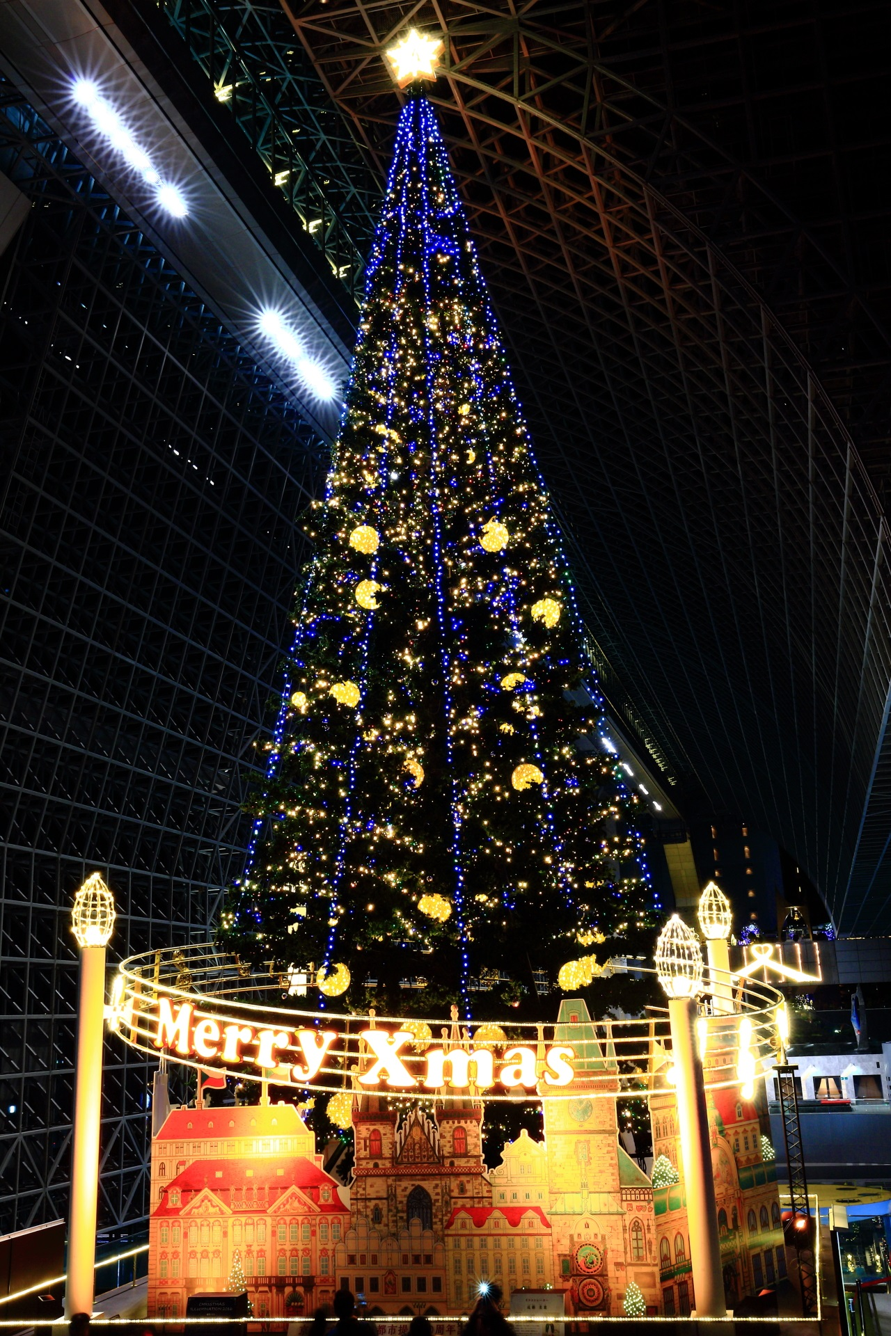 Kyoto Station Building Christmas tree illumination