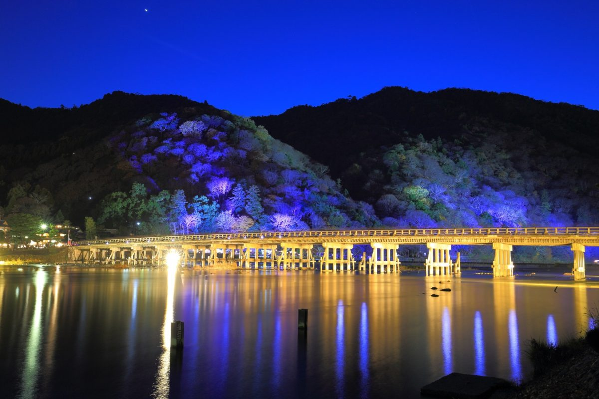 嵐山花灯路 渡月橋と保津川 冬を彩る幻想的なライトアップPost navigation